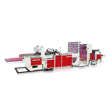 High Speed 5 Lines Calendar Bag Making Machine with Hot Slitting & Servo-Drive System(1000 pcs/min)(Non Stop)