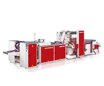 High Speed Fully Automatic 2 Lines Bottom Sealing Machine for Coreless Bags On Rolls with Hot Slitting and Post Gusset