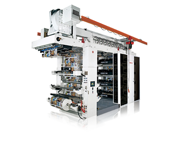 Super High-speed Stack Type Flexo Printing Machine With Doctor Blade Chamber System (8 Color)