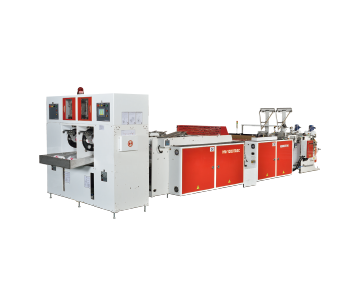 2 Lines Speed Fully Auto Bag On Roll Making Machine With Core Bag