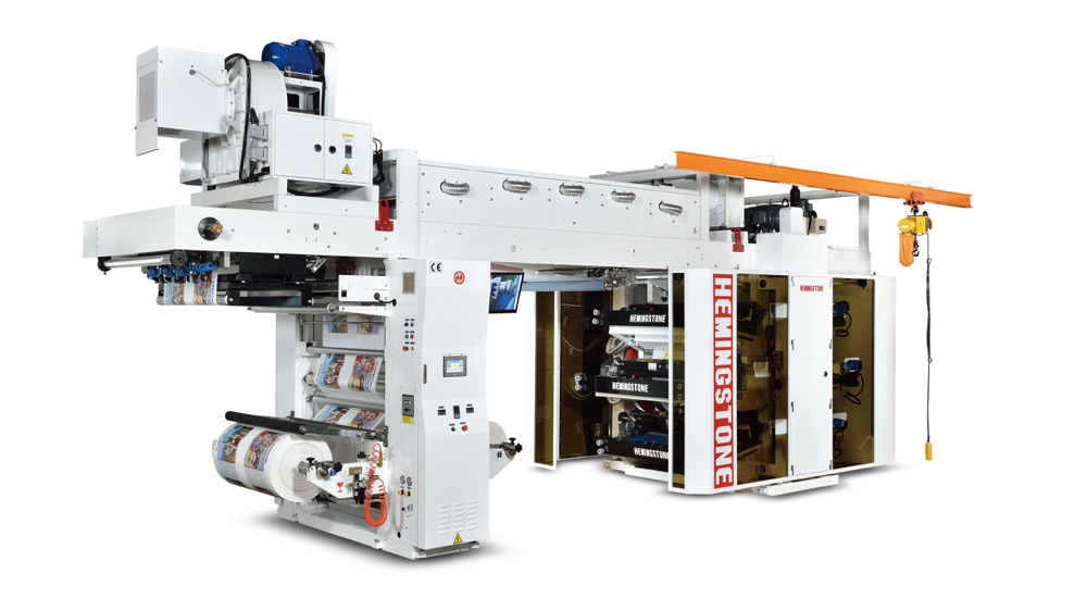 High Speed Central Impression Printing Press with Doctor Blade Chamber System with Fixed Type Rewind & Unwind
